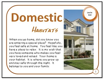 Domestic Habitats Wanted and Unwanted Animal Homes PDF Presentation