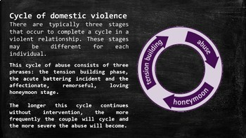 Domestic Violence  PowerPoint and Guided Notes Worksheet