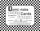 Domi-note Cards for Levels 3-4, Three Rhythm Games