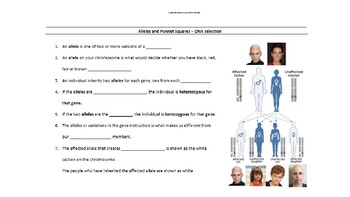 Dominant & Recessive Traits - Genetics PowerPoint & Worksheets with answers