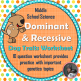 Dominant and Recessive Traits in Dogs Genetics Worksheet