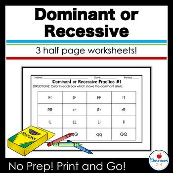 Dominant or Recessive Practice Set