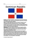 Dominican Republic - Full History Facts Information Review Questions Vocab