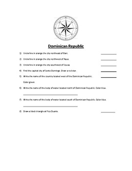 Dominican Republic Map Scavenger Hunt