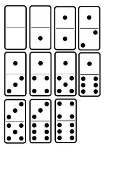 Domino 0 to 10 Clipart