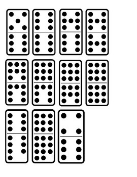 Domino 10 to 20 Clipart