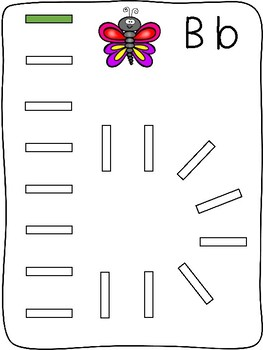 Domino - A to Z letter formation activity mats