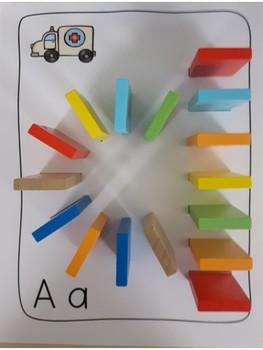 Domino - Thanksgiving - letter formation activity mats