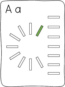 Domino - A to Z letter formation activity mats - without images