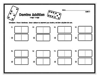 2 Digit Domino Addition