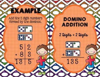 Domino Addition- 2 Digits plus 2 Digits (With and Without QR Code)