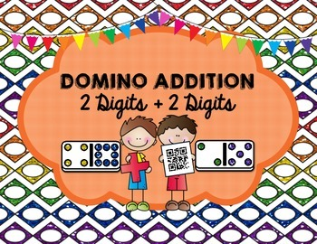 Domino Addition- 2 Digits plus 2 Digits (With and Without