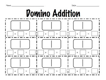 Domino Addition: A Kindergarten & First Grade Math Center