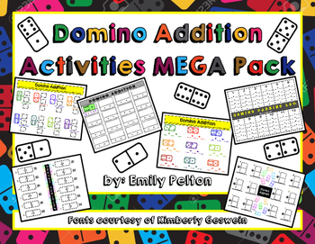 Domino Addition Games/Activities MEGA Pack (K-1)