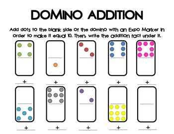 Domino Addition - Adding to 10
