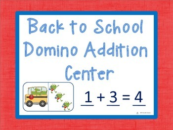 Domino Addition: Back to School Edition