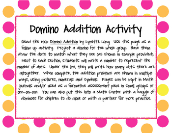 Math - Addition with Dominos Worksheets (Supports the Common Core!)
