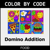 Domino Addition - Color by Code / Coloring Pages - Food
