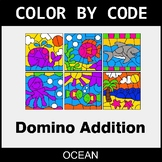 Domino Addition - Color by Code / Coloring Pages - Ocean