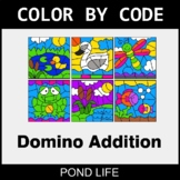 Domino Addition - Color by Code / Coloring Pages - Pond Life