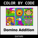 Domino Addition - Color by Code / Coloring Pages - Safari
