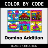 Domino Addition - Color by Code / Coloring Pages - Transportation