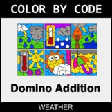 Domino Addition - Color by Code / Coloring Pages - Weather