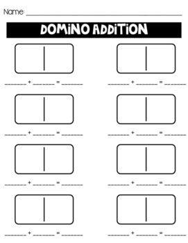 Domino Addition FREEBIE