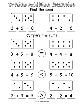 Domino Addition Find and Compare Sums