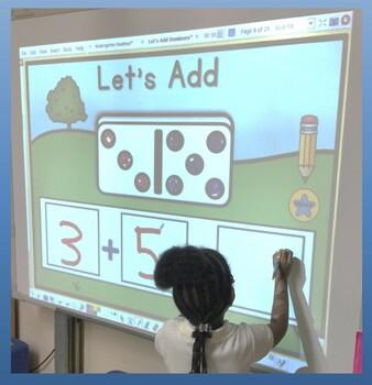 Domino Addition Fun  Promethean Board Flip Chart and Wipe off Cards