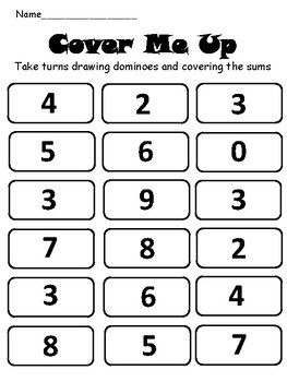 Domino Addition Game