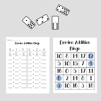 Domino Addition Game Boards