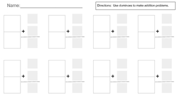 Domino Addition (Horizontal and Vertical Addition)