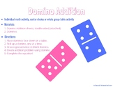Domino Addition (Individual Math Activity, Center Choice a