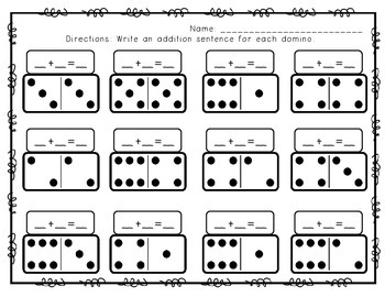 Domino Addition - Part-Part-Whole, Missing Addends, and More!