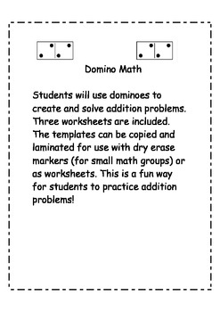 Domino Addition Practice