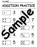 Domino Addition Practice with Domino Set