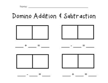 Domino Addition & Subtraction
