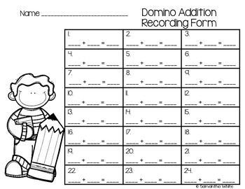 Domino Addition {Task Cards}