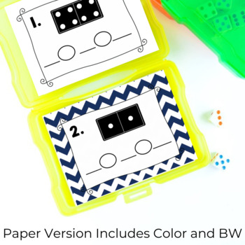 Domino Addition Task SCOOT Cards
