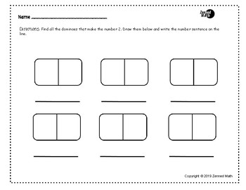 Domino- Find The Addends (Within 10)