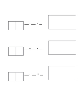Domino Addition Write and Draw