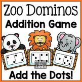 Subitizing Addition Game - Zoo Animals