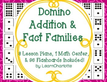 Domino Addition and Fact Families {Lesson Plans and Math C