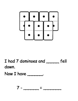 Domino Bowling Subtraction Math Station/Center Game