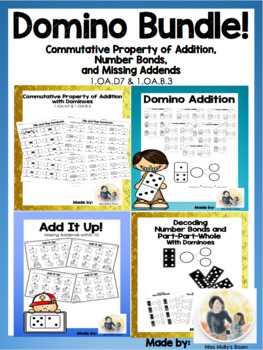 Domino Bundle! Commutative Property of Addition, Subtracti