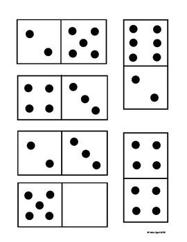 Unusual image with printable dominoes