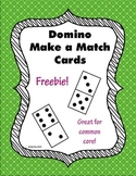 FREEBIE! Domino Cards for Number Matching and Games