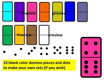 Dominoes pieces Clip Art- Domino Cartoons Clip Art- commercial use