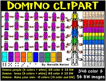 Dominoes pieces Clip Art- Domino Cartoons Clip Art- commer